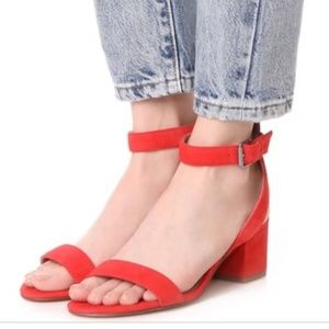Madewell the Alice Sandals Red in Suede size 8